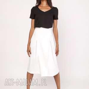 lanti urban fashion rozkloszowana spódnica za kolano, sp118 ecru, spódnica, midi