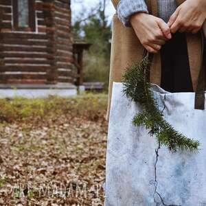 torba mr m kamień/ uszy skóra naturalna, shopper, print, pojemna, wygodna