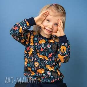 bluza dresowa rudy lisek, dresowa, bez kaptura, bawełniana