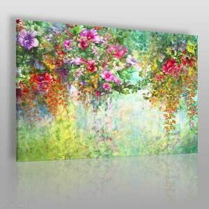 obraz na płótnie - ogród kwiaty natura 120x80 cm 78701, ogród, kwiaty, rośliny