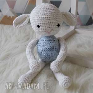 Owieczka #1, maskotka, przytulanka, szydełko, owieczka