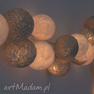 lampki cotton ball lights księżycowy blask, prezent, mamy, dziecka, girlanda, lampka