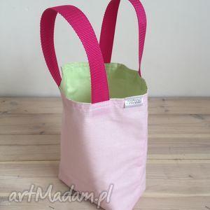hand made torebki lunchbag by wkml różowa limonka