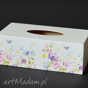 pudełka chustecznik - pudełko na chusteczki łąka kwiatów