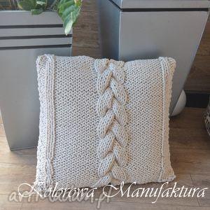 poduszki poduszka dekoracyjna warkocz i, poduszka, kanapa, salon