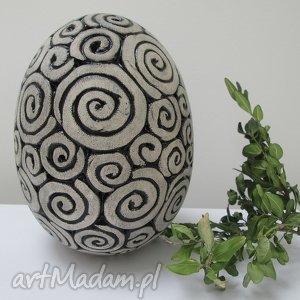 duże ceramiczne jajo - ,jajko,wielkanocne,ozdoby,świąteczne,