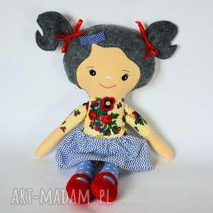 lala rojberka - basia 50 cm, lalka, rojberka, dziewczynka, folk, róże