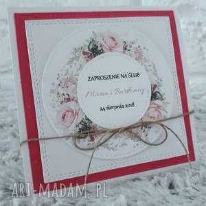 Zaproszenia ślubne , zaproszenie, akcesoria, scrapbooking, ślub, okazja
