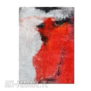 Spilled wine, abstrakcja, nowoczesny obraz ręcznie malowany, obraz, salon