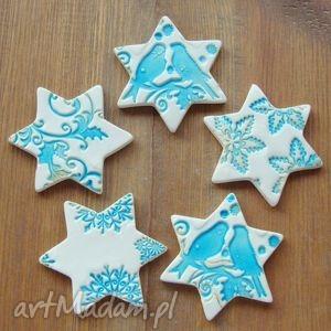 hand made prezent pod choinkę zestaw magnesów świątecznych