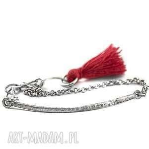 bransoletka z chwostem, bransoletka srebrna, delikatna, minimalistyczna