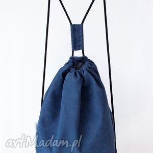 oryginalny prezent, borba granatowy plecak zamszowy, minimalizm, streetwear