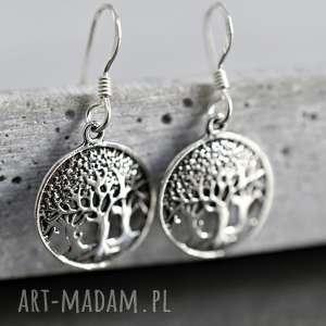 ręcznie wykonane kolczyki 925 srebrne kolczyki drzewo życia