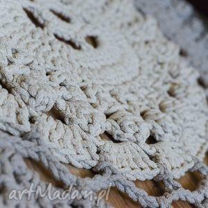 Dywanik handmade okrągły by monica sznurek, chodnik, szydełko