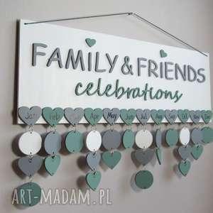Prezent Kalendarz rodzinny, kalendarz urodzin, także księga gości ślub, dowolne