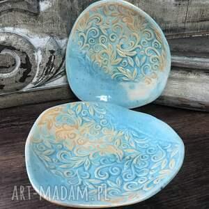ręczne wykonanie ceramika talerzyki