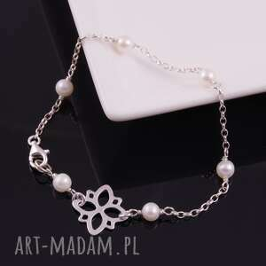 delikatna bransoletka z białych pereł 2 monle - naturalne perły