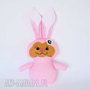 królik torebkowy - morela - królik, zając, zabawka, maskotka, przytulanka