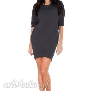 rawear sukienka o_1 ciemnoszary, sukienka, dzianina, wygodna, luźna, kieszenie