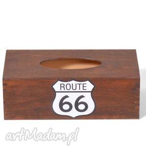 Prezent Chustecznik - pudełko na chusteczki Route 66 Bejcowany, chustecznik