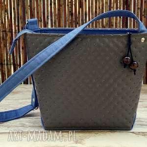 ręcznie robione na ramię pikowana torebka