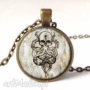 ośmiornica - medalion z łańcuszkiem - naszyjnik, prezent