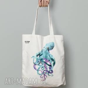 ręcznie robione na zakupy torba bawełniana ośmiornica
