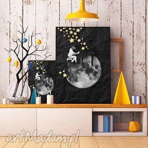 art print a4, grafika, ilustracja, plakat, pianista, gwiazdy, fortepian