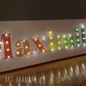 pokoik dziecka obraz led imię neon twoje słowo tęczowy napis litery