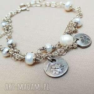 Tilia Pracownia: Bransoletka ze srebra i perełek 797