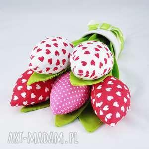tulipany- bukiet z 5 sztuk, tulipany, dekoracja, prezent, bukiet, kwiaty, święta