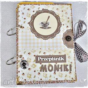 handmade scrapbooking notesy kawa czy herbata? Przepiśnik z twoim imieniem