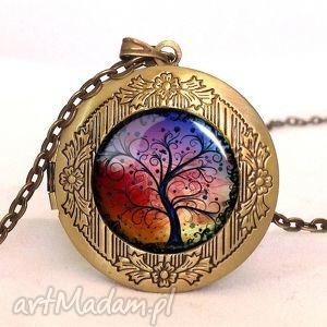 drzewo życia - sekretnik z łańcuszkiem - romantyczny, naszyjnik