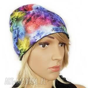 hand-made czapki melat35/ designerska czapka jesienna bawełniana