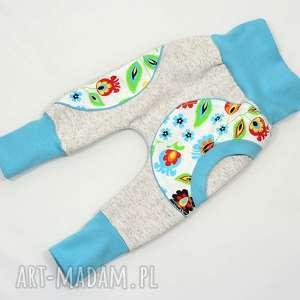 LUDOWE FOLKOWE spodnie, baggy dla dziewczynki, bawełniane, rozmiary 62-104