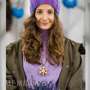 endorfina euforia, lawendowa, fioletowa, czapka, zimowa, damska, kolorowa