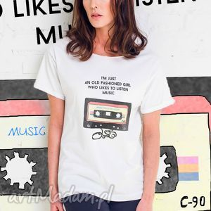 GIRL WITH AUDIOTAPE Oversize T-shirt, oversize