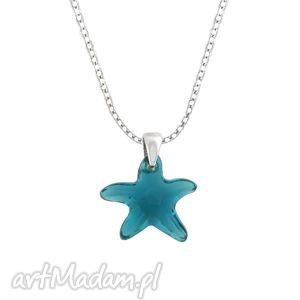 swarovski - starfish necklace, swarovski, łańcuszek, rozgwiazda, zawieszka