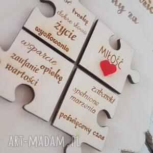 podziękowania dla rodziców rodzicom prezent ślubne ślub papirus drewno puzzle