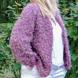 swetry letni kardigan z kolekcji kolorowy ptak pink, kardigan, sweter, dziergany