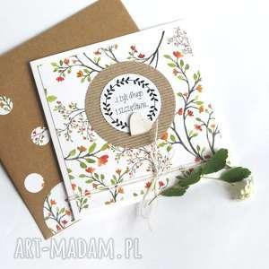 kartka ślubna HANDMADE :: floral branches, ślub