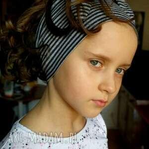 ruda klara opaska dla dziewczynki na 7-9 lat - bawełniana, miękka, lekko