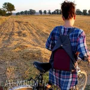 roweLOVE vege szary buraczek, vegan, plecak, rower, lato, torba
