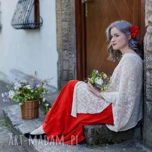 Letnie ponczo z bawełny poncho hermina damskie, ponczo