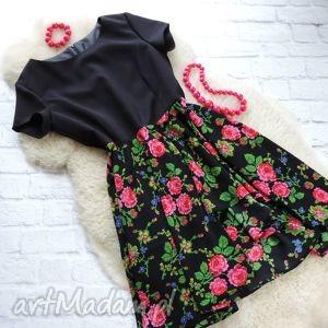 Sukienka góralska w kwiaty folk, sukienka, góralska, kwiaty, cleo, etniczna