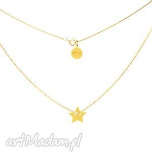 ręczne wykonanie naszyjniki złoty naszyjnik modowy symbol gwiazdka gwiazda łańcuszek żmijka fashion