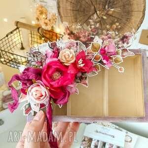Jesienne pudełko z kwiatami pudełka made by kate na biżuterię