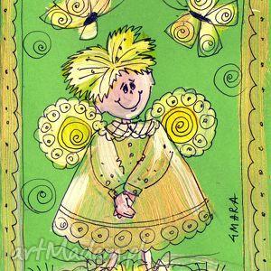 hand-made scrapbooking kartki aniołek w10