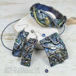 Prezent Komplet biżuterii z motywem węży, biżuteria-na-prezent, komplet-biżuterii,