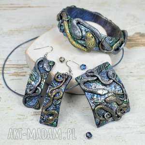 komplety komplet biżuterii z motywem węży, biżuteria-na-prezent, komplet-biżuterii